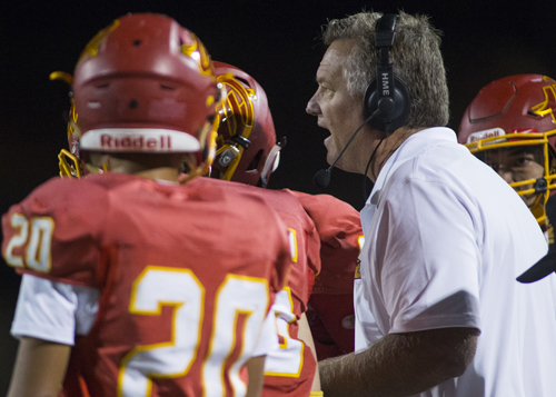 Woodbridge coach Rick Gibson couldn't bring himself to start practices during July, so he's waiting a few days before holding the first official workout of the 2017 seaosn. (File: Josh Barber, For the Register)