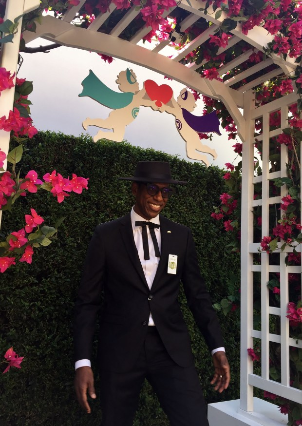 Actor Orlando Jones poses at SYFY's Geek Love Chapel on Thursday, July 20, 2017, after officiating a wedding. (Photo by Sarah Batcha/Southern California News Group)