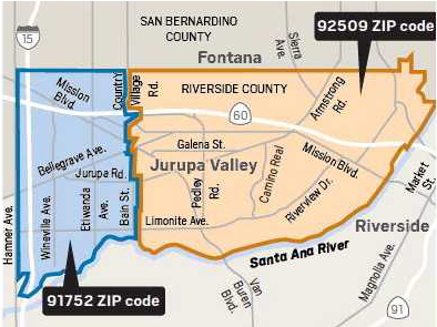 Perris Zip Code Map.Jurupa Valley Seeks To Fix Zip Code That Wrongly Calls Area
