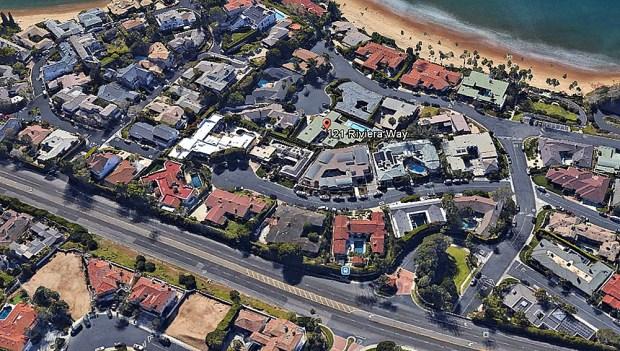 121 Riviera Way, Laguna Beach (Google Earth)