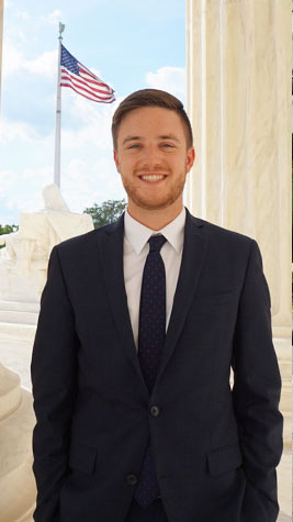 Jared Hill, a public administration major,worked in Rep. Tom McClintock's office in Washington, D.C., this summer as part of Cal State Fullerton's DC Scholars program. (Photo courtesy of Cal State Fullerton)