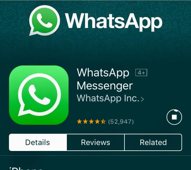 Screenshot of WhatsApp messaging tool that can be used all over the world, whereever there is wi-fi. Users must download and then can text and call any other user worldwide who also has downloaded the app. Credit: Marla Jo Fisher, Orange County Register