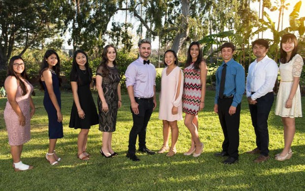 Some of Cal State Fullerton's new crop of President's Scholars are shown here. The scholars hold the most prestigious status the university accords incoming students. (Photo courtesy of Cal State Fullerton)