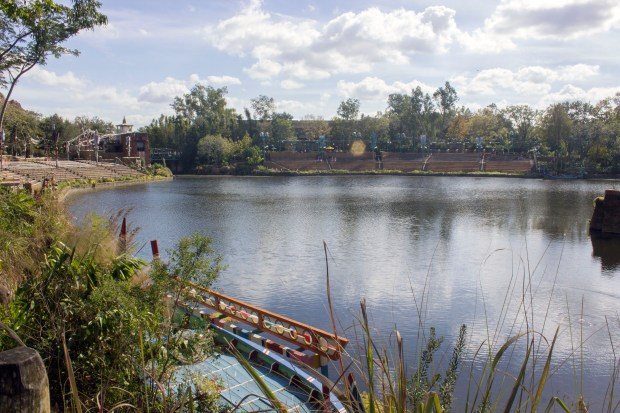 "A view across the waters where a night time show called ""The Rivers of Light"" takes place in Disney's Animal Kingdom at the Walt Disney World Resort. (Photo by Mark Eades, Orange County Register/SCNG)"