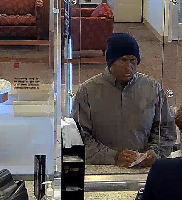 Authorities are searching for a man who they say was wearing brown face makeup when he attempted to rob a bank south of Corona on Friday, Aug. 18. (Courtesy of the FBI)