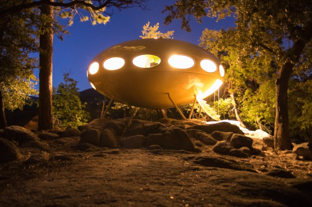 The Futuro House in the Idyllwild area was built in 1969.Photo courtesy of Carlie Galloway