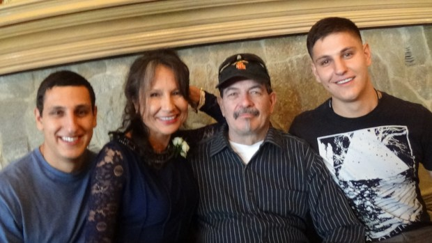 (Left to right) Brandon Vielkind, Rhonda Hodges, Brent Hodges, who is her husband, and Paul Vielkind. (Photo courtesy of Rhonda Hodges)