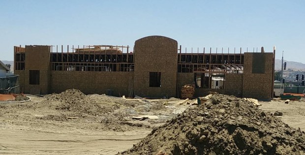 Construction is ongoing at the San Bernardino Raising Cane's, 1857 S. Tippecanoe Ave. (Photo by John Plessel, SCNG)