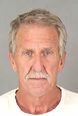 Scott Duane Sempson, 61, of Canyon Lake, was arrested on suspicion of hit-and-run causing death early Saturday, Aug. 19, 2017. Sheriff's officials said he fled the scene after a passenger fell out of his golf cart and died late Friday. (Photo courtesy of Riverside County Sheriff's Department)