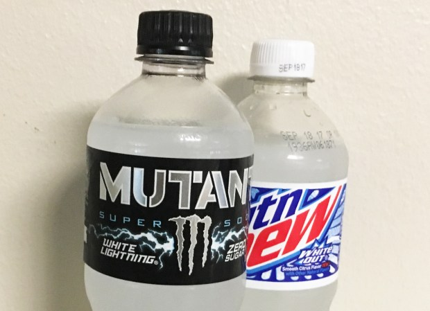 Monster Mutant White Lightning resembles Mountain Dew White Out.