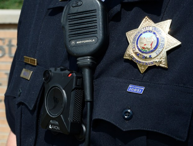 Cal State Northridge will wear body cameras starting this week and is one of the first in the Cal State University system to have them. Northridge, CA 9/1/2017 (Photo by John McCoy, Los Angeles Daily News/SCNG)