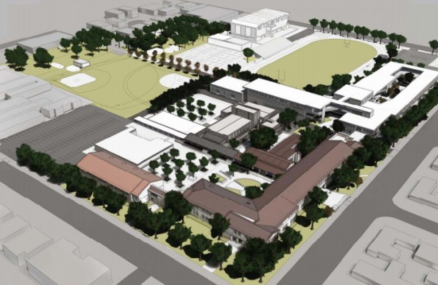 Artist rendering for North Hollywood High School.