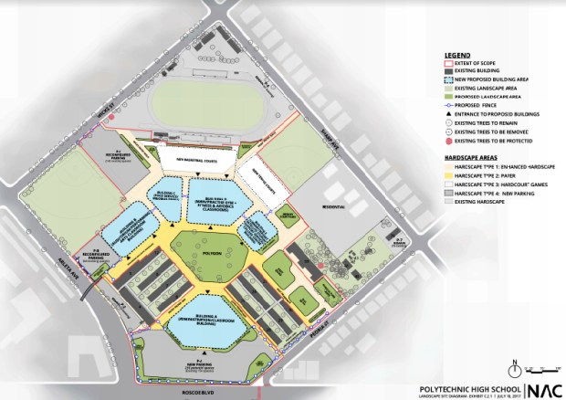Layout for upgrades to Polytechnic High School.