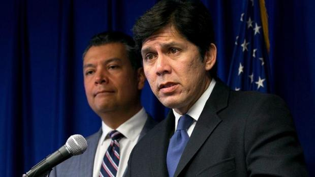 President Pro Tem Kevin de León's plan called for a modest nudge to the state's renewable energy use, to 60 percent of its total by 2030, up from the current 50 percent. (Associated Press photo)