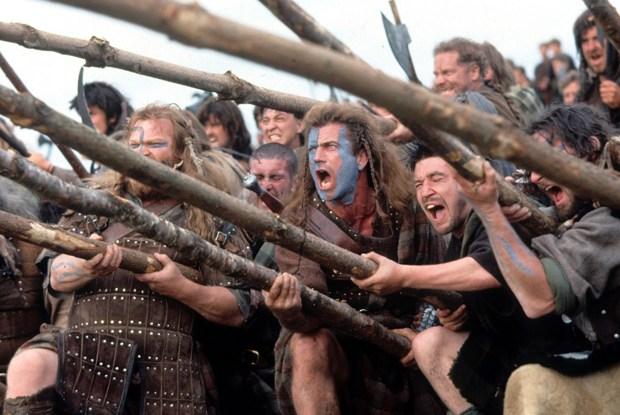 """""""Braveheart,"""" starring Mel Gibson, center, tells the story of William Wallace, a Scottish rebel who leads an uprising against an English ruler. (Photo courtesy of Paramount Pictures)"""