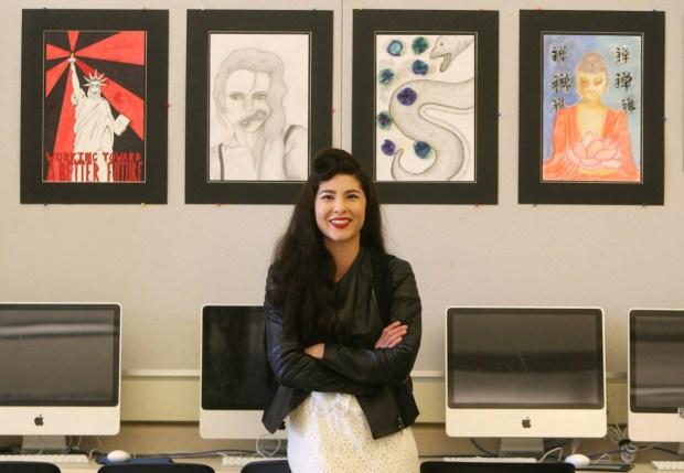 Bridget Beaudry-Porter teaches studio art at Laguna Beach High School. (Photo by Armando Brown, Orange County Register)