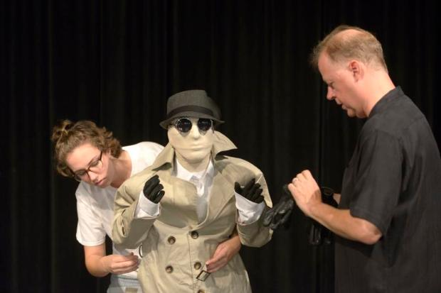 Dan Blackley, right, teaches drama at El Toro High School. (Photo by Jeff Gritchen, Orange County Register/SCNG)