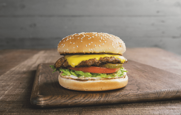 Farmer Boys' Big Cheese features a quarter pound beef patty.