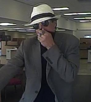 Surveillance footage showed a man who robbed a Bank of America in Huntington Beach in May. (File photo by HBPD)