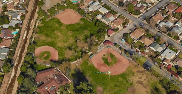 Fred Smith's body was found behind the softball fields in Las Palmas Park in San Fernando on Aug. 8, 2017.