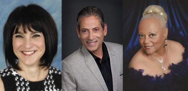 L-R Rebecca Suzanne Caverly, David J. Fernandez and Marsha Gail Chapman, recipients of the CCEJ Gene Lentzner Human Relations Awards.