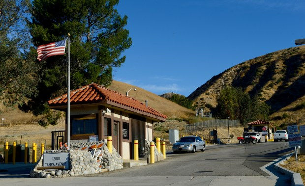 Two years after a massive leak from a well at Aliso Canyon, a community is still demanding answers over what happened. The entrance to the Aliso Canyon storage facility in Porter Ranch on October 16, 2017. (Photo by Dean Musgrove, Los Angeles Daily News/SCNG)