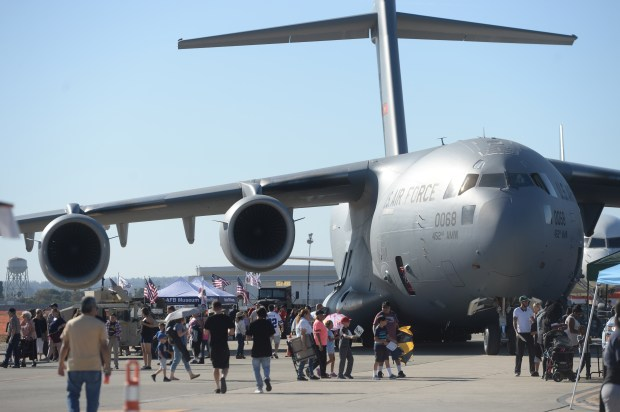 The C17 Globemaster III aircraft on display during the Third annual SBD fest air show at San Bernardino International Airport in San Bernardino, Ca., October 21, 2017. (John Valenzuela/The Sun/SCNG)