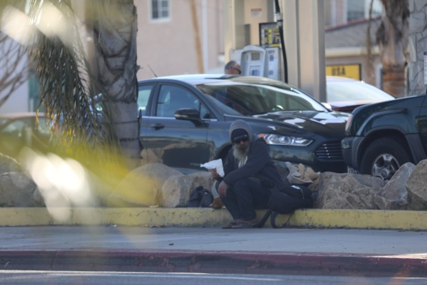 Courtesy photo of Mike at his usual spot in front of USA Gasoline in Lawndale. From Daniel Hubbard.