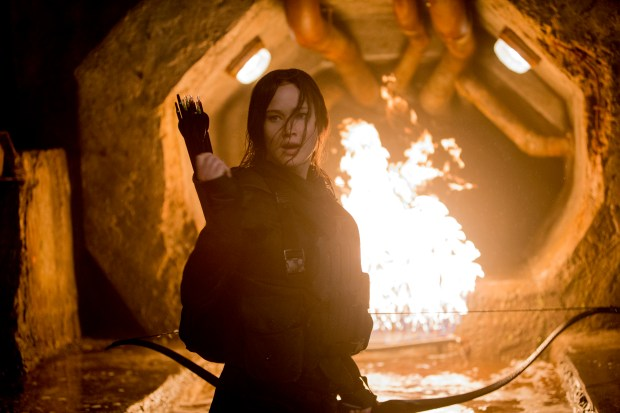 """A theme park land based on """"The Hunger Games"""" might seem like it wouldn't work, but who wouldn't want to be heroine Katniss Everdeen. (Photo by Murray Close, Lionsgate)"""