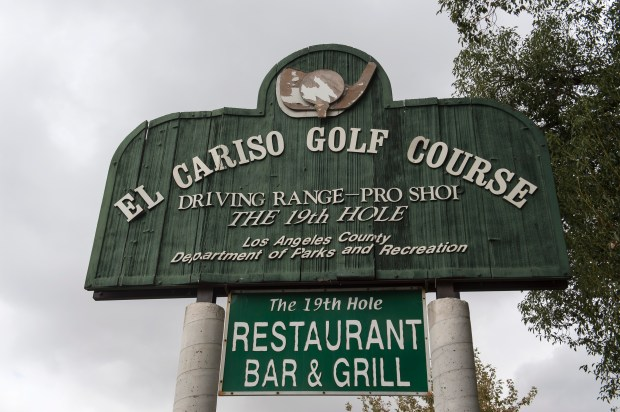 Clouds loom over El Cariso Golf Course in Sylmar on Tuesday, Oct. 31, 2017. (Photo by Ed Crisostomo, Los Angeles Daily News/SCNG)