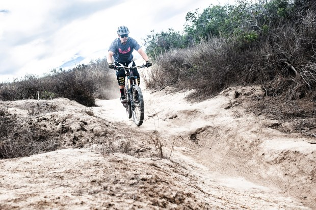 A mountain biker rider navigates a trail near Top of the World Park in Laguna Beach. (File Photo by Nick Agro, Orange County Register/SCNG)