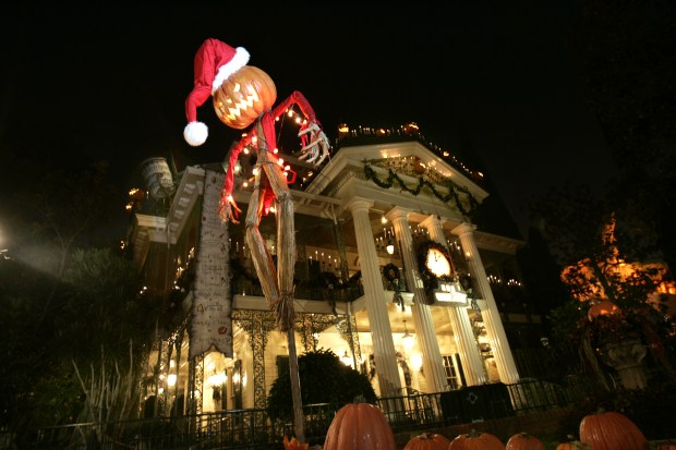 "File Photo: Haunted Mansion Holiday is inspired by ""Tim Burton's The Nightmare Before Christmas."""
