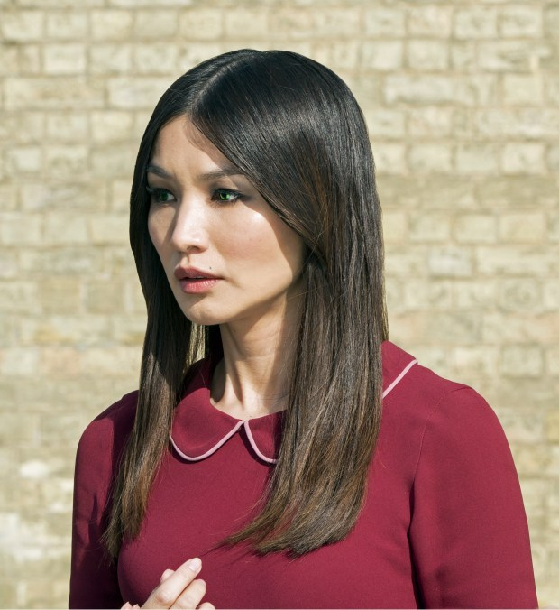 "Gemma Chan as Anita/Mia, in Season 2 of AMC's ""Humans ."""