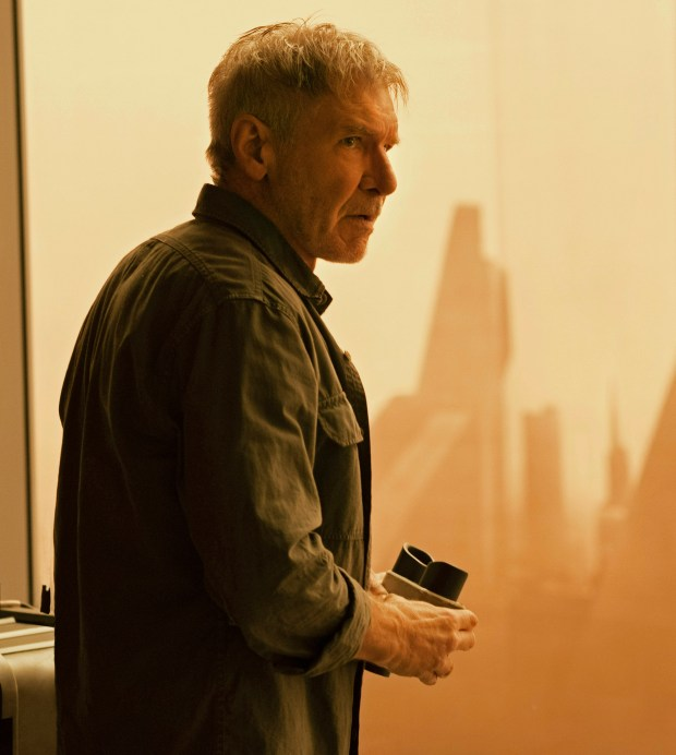 "Harrison Ford as as Rick Deckard in ""Blade Runner 2049."""