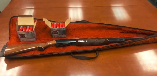 Recovered shotgun.Courtesy of Hawthorne police