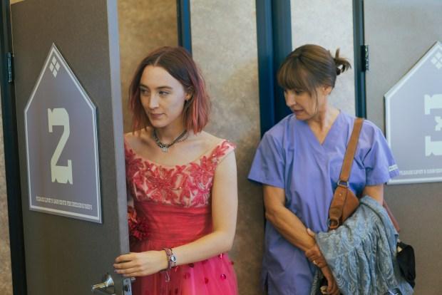 Saoirse Ronan and Laurie Metcalf; photo credit – Photo by Merie Wallace, courtesy of A24