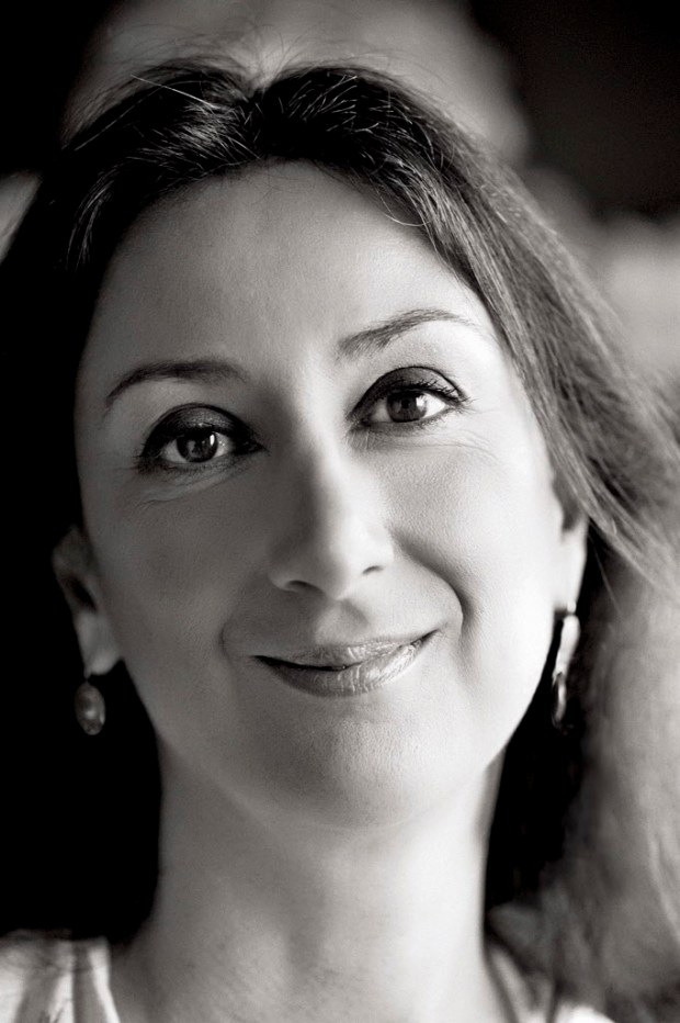 This undated photo shows Daphne Caruana Galizia, a Maltese investigative journalist who exposed her island nation's links with the so-called Panama Papers. Galizia was killed on Monday, Oct. 16, 2017, when a bomb destroyed her car as she was driving near her home in Mosta, a town outside Valletta, Malta's capital, Prime Minister Joseph Muscat said. (The Malta Independent via AP)