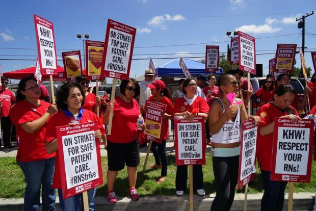 Nurses at West Anaheim Medical Center voted to join the California Nurses Association by 147-33 in a secret ballot election conducted by the National Labor Relations board Thursday, Oct. 12. (File photo courtesy of the CNA)