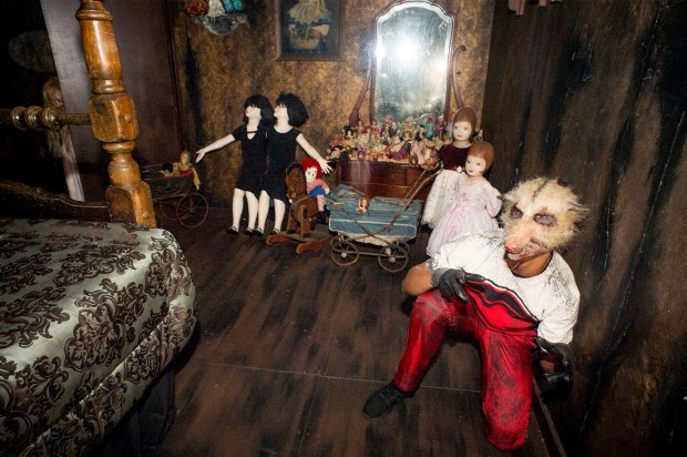 Mirrors are one of many items people find superstitious--this one is found in the Witch's Bedroom of the Trick or Treat maze during Knott's Scary Farm in Buena Park, Calif. Sept. 22, 2017. (Photo by Leo Jarzomb, SGV Tribune/ SCNG)