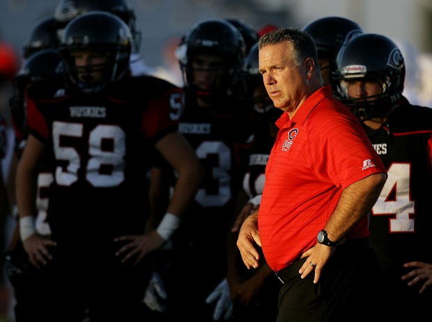 Centennial coach Matt Logan has guided the program to 40 consecutive league victories, the longest such streak in Inland history. (Photo by Terry Pierson, The Press-Enterprise/SCNG.com)