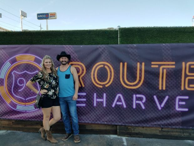 Lauren Lamandia and her boyfriend Philip Edwards, both of Pomona, watching Jason Aldean perform at the Route 91 Harvest Festival when a gunman began firing on the crowd Sunday, Oct. 1, 2017. The couple and their friends escaped the mass shooting. (Photo courtesy of Lauren Lamandia)