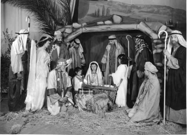 During the Christmas season, drama and music teachers at Sherman often put on a nativity play. Many former students have fond memories of the season. But the author said the play is an example of activities that was designed to assimilate the American Indian students into a society heavily influenced by Christianity.Photo courtesy of Sherman Indian Museum