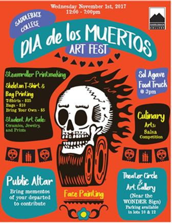 Dia de Los Muertos Artr Fest at Saddleback College 2017. Courtesy of Saddleback College