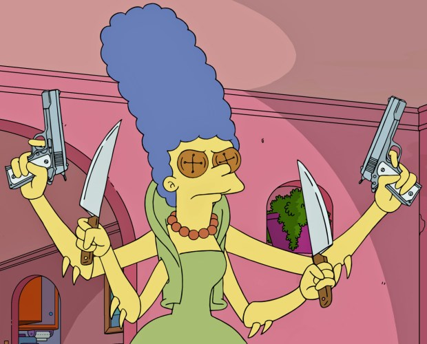 "Marge Simpson in ""Treehouse of Horror XXVIII,"" premiering Sunday on Fox."