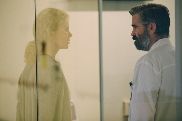 "Nicole Kidman and Colin Farrell in ""The Killing of a Sacred Deer."" Photo by Jima (Atsushi Nishijima), courtesy of A24"