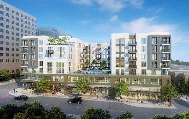 Rendering for a new residential development at 550 Palos Verdes St. in San Pedro.