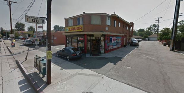 When two robbers — at least one of whom had a gun — confronted the clerk at the Bottle House Liquor Store on Norwalk Boulevard in Whittier, that clerk produced his own gun and shot and killed one of the suspects. (Google Street View)