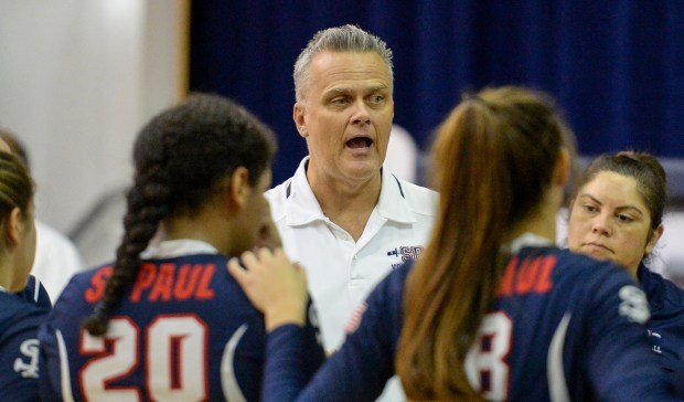St. Paul head coach John Van Deventer hs been named the Whittier Daily News coach of the year. (Photo by Keith Durflinger, Whittier Daily News/SCNG)