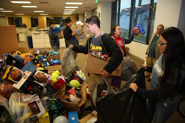After a few years of a downward trend in donations, the South Bay stepped it up this year, donating more than 1,500 balls to the Daily Breeze annual sports ball drive for needy kids. Chuck Bennett/Daily Breeze/SCNG