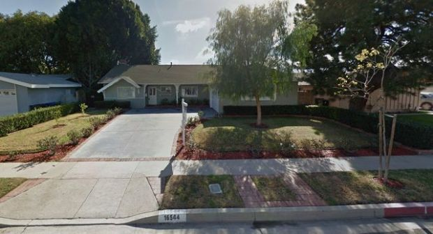 The California Department of Social Services' Community Care Licensing Division is investigating the Aacres Group Home at 16544 Bircher St., Granada Hills after one resident at the facility allegedly stabbed another to death on May 14, 2017. (Google Street View)